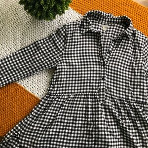 Gingham Flannel with babydoll detail
